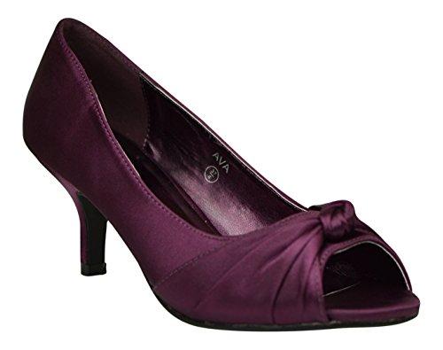 Chic Feet - Sandalias de vestir de Satén para mujer morado