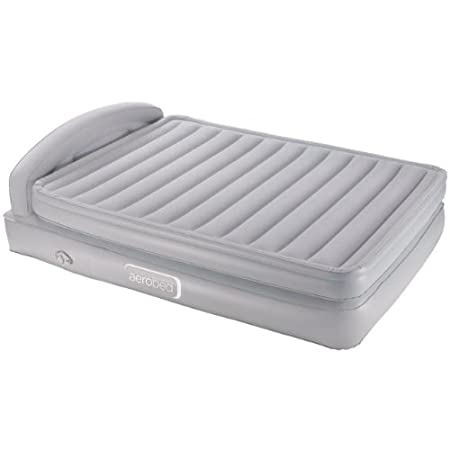 Aerobed Comfort Raised King Size Airbed With Headboard. Inflatable Guest Bed