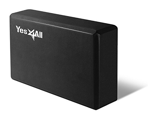 Yes4All HQ Yoga Block - 9 x 6 x 4 inch - Black - ²BAATZ