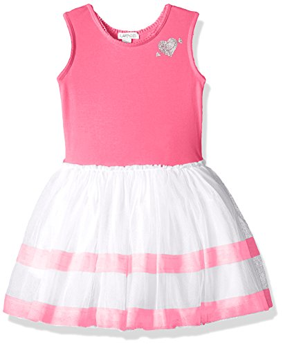 - Flapdoodles Little Girls' Stripe Tutu Dress with Cotton Bodice, Hot Pink, 6X