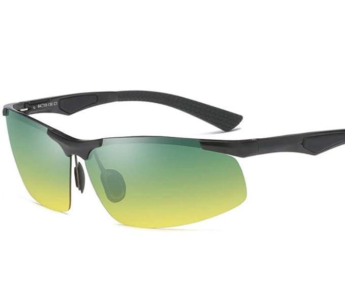 ALHM Gafas De Sol Polarizadas De Aluminio Y Magnesio Gafas De Conducción De Medio Cuerpo Para Hombre Y Día: Amazon.es: Ropa y accesorios