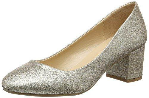 Dorothy PerkinsDaze Block Heel 19960542, Zapatos de Tacón Mujer Oro (Metallic)