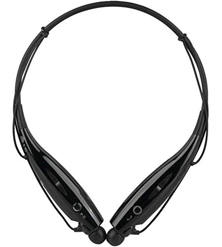 FEDUS HBS 730 Neckband Bluetooth Wireless Headset with Mic for all Smartphones Black