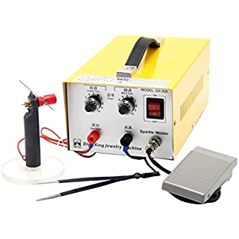 BAOSHISHAN Pulse Sparkle Spot Welding Machine 200W Jewelry Welder for Necklace Gold Silver Platinum 110V