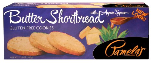 Pamela's Products Gluten Free Shortbread, Butter 7.25-Ounce Boxes (Pack of (Butter Shortbread)