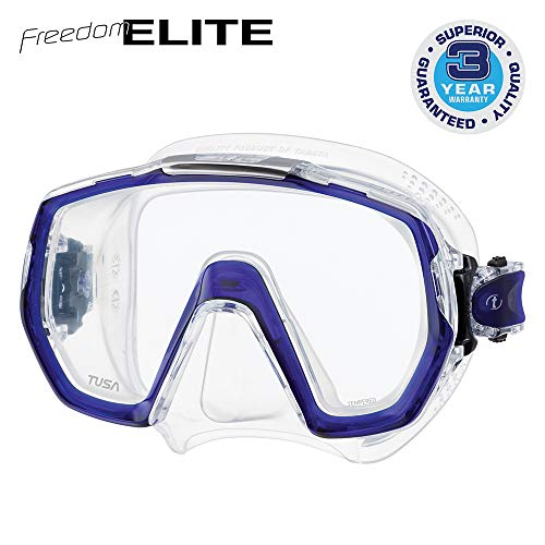 TUSA M-1003 Freedom Elite Scuba Diving Mask, Cobalt Blue