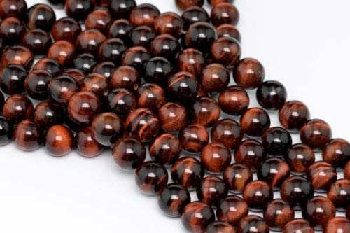 Mahogany Bun Feet - 10mm Natural Mahogany Red Tiger Eye Beads Grade Round Loose Beads 15.5'' Crafting Key Chain Bracelet Necklace Jewelry Accessories Pendants