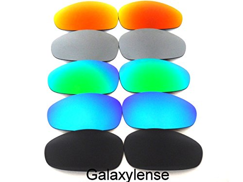 Galaxy Replacement Lenses For Oakley Juliet Polarized Black&Blue&Green&Gray&Red 5Pairs