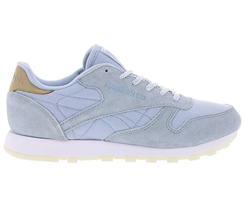 Classic Chaussures Reebok Sea Femme Bleu Leather Baskets worn OHHtwT