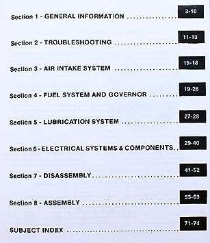 Amazon.com: Kohler Kt17 Series Ii Motor Service Manual Ih ...