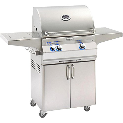 (Fire Magic Aurora A430s 24-inch Freestanding Propane Gas Grill With Analog Thermometer And Single Side Burner - A430s-5eap-62)