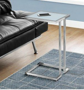 Amazon Com Tv Tray Table C Shaped Tempered Glass Kitchen Dining