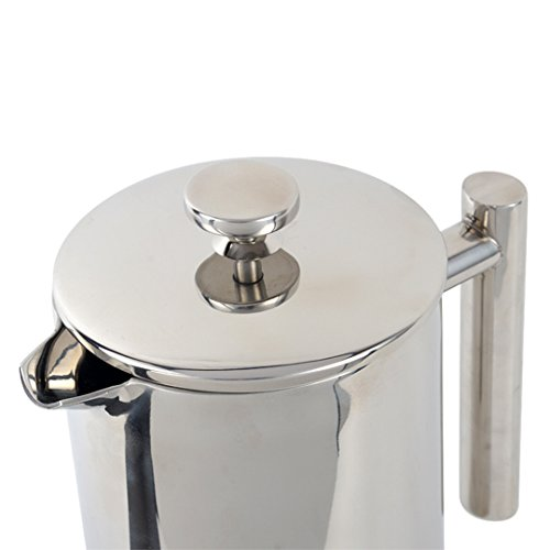LOSCATO 34OZ Double Wall Stainless Steel French Press Coffee Maker (1L) by LOSCATO (Image #4)