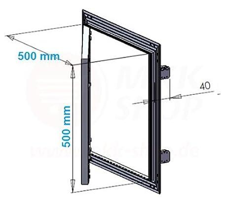 Tapa para revisi/ón de marco de aluminio 12,5/mm GK Einlage yeso pladur aluminio 400/x 400