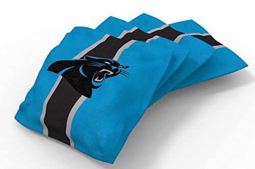 PROLINE 6x6 NFL Carolina Panthers Cornhole Bean Bags - Stripe Design (B)
