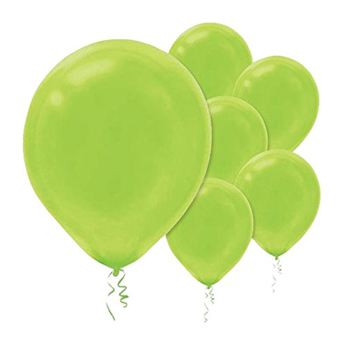 Amscan Solid Color Latex Balloons - Packaged, Party Decoration, -