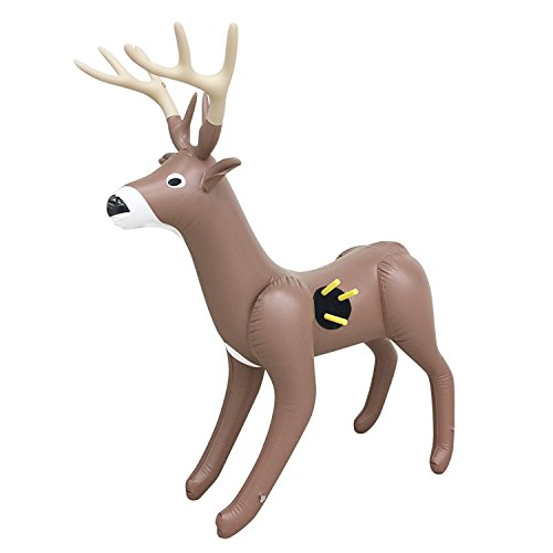 (NXT Generation 3D Inflatable Deer Target - Archery Target Practice - Life Size Inflatable Buck for Kids - Suitable for Indoor and Outdoor Play - for Hook and Loop Tipped Foam Darts)