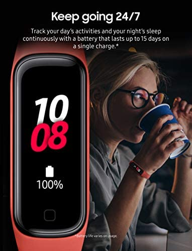 Samsung Galaxy Fit 2 Bluetooth Fitness Tracking Smart Band – Scarlet (US Version) 3