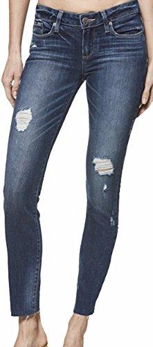 PAIGE Women's Jean Verdugo Ankle Cliff's Edge Destructed Raw Hem Jeans 2392984 5726 (32) (Wash Cliff Jean)