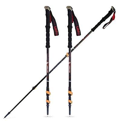 Carbon Alpenstock peut être réglable manuellement Verrouillage Canne Bâton de marche en plein air Light Stick ( Couleur : Bleu )