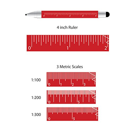Monteverde USA One Touch Tool Stylus, 0.9 mm Pencil, Red (MV35253) Photo #3