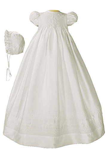 LITTLE THINGS MEAN A LOT Girls White Silk Dress Christeni...