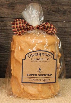 Thompson's Candle Co Caramel Apple Pillar (Apple Scented Round Pillar Candle)