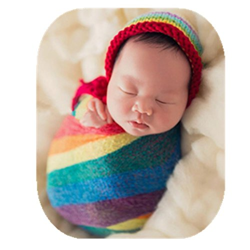 Newborn Baby Photo Props Boy Girls Blanket Backdrop Rainbow Wrap Cloth Photo Shoot Outfits Baby Photography Props (wrap Cloth)
