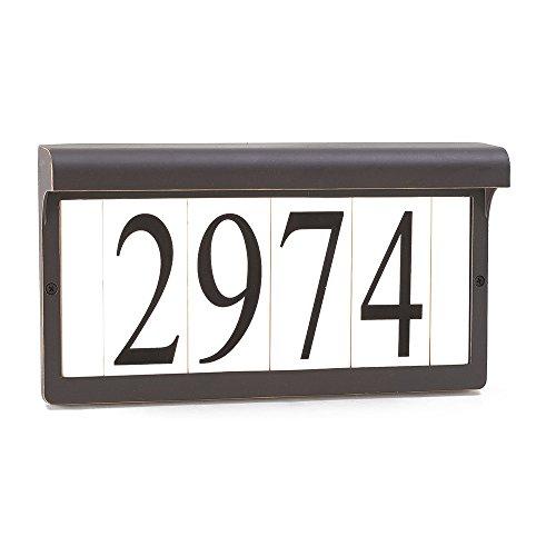 Sea Gull Lighting 9600-71 Address Light Fixture, Antique Bronze (Lighting Address Number)