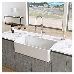 Farmhouse Kitchen Latoscana 33″ Reversible Fireclay Farmhouse Sink LFS3318W farmhouse kitchen sinks