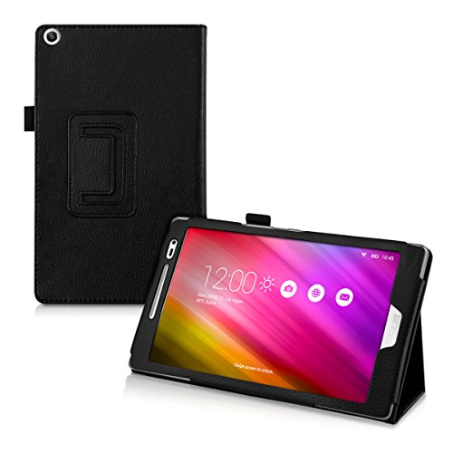 kwmobile Elegant synthetic leather case for Asus ZenPad 8.0 in black with convenient STAND FEATURE