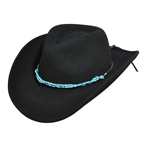 Bailey Western Men Renegade By Bailey Sidney Western Hat Black (Lite Felt Outback Hat)