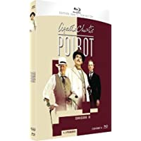 Agatha Christie: Poirot Season 9 - Blu-ray - Default Language French can be changed to English Audio Option with Remote - Season 9 - Hercule Poirot - Saison 9 Elephant Films | 2 Seasons | Aug 20, 2014 - Directors: Andrew Grieve, Edward Bennett, Renny Rye, Brian Farnham Writers: Agatha Christie, Clive Exton, Anthony Horowitz Starring: David Suchet, Hugh Fraser, Philip Jackson, Pauline Moran, Zoë Wanamaker, Emily Blunt