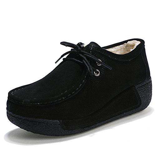 In Velluto Comode suo Z Loafers Moda Nero Più Mocassini Guida Da Donna Scamosciata Pelle Scarpe qxtqn610w