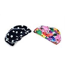 EFORCAR(R) 2 PCS Colorful designed Lycra Swim Cap Hat Bathing Cap Swimming Hat