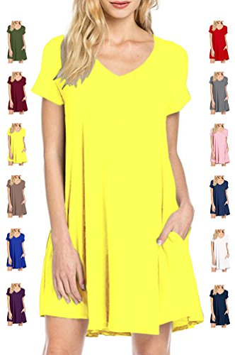 tinyhi-womens-short-sleeve-pocket-casual-loose-t-shirt-basic-tunic-dress