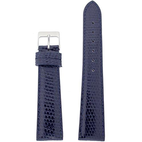 - Watch Band Genuine Lizard Navy Blue 16mm