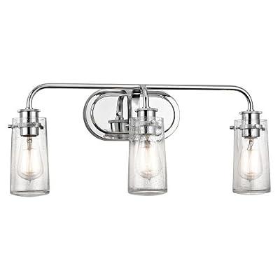 "Kichler 45459 Braelyn 3 Light 24"" Wide Bathroom Vanity Light with Seedy Glass Sh,"