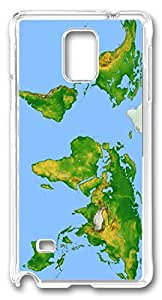 Abstract World Map DIY Hard Shell Transparent Best Designed Samsung Galaxy Note 4 Case
