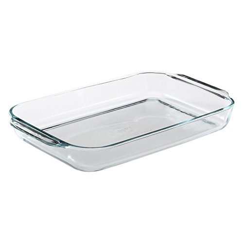 Pyrex Bakeware 4.8 Quart Oblong Baking Dish, Clear (Set of 6)