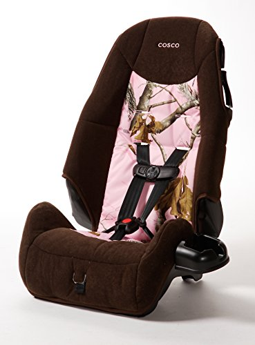 Cosco – Highback 2-in-1 Booster Car Seat – 5-Point Harness or Belt-positioning – Machine Washable Fabric, Realtree