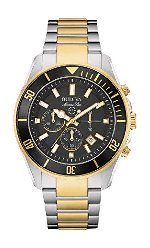 (Bulova 98B249 Mens Marine Star Two Tone Chronograph Watch )