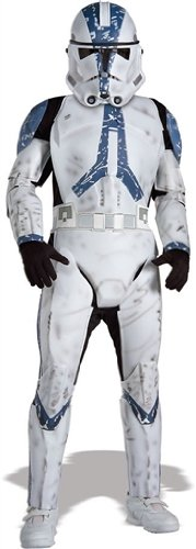 Rubies Star Wars Classic Child's Deluxe Clone Trooper Costume and Mask, -