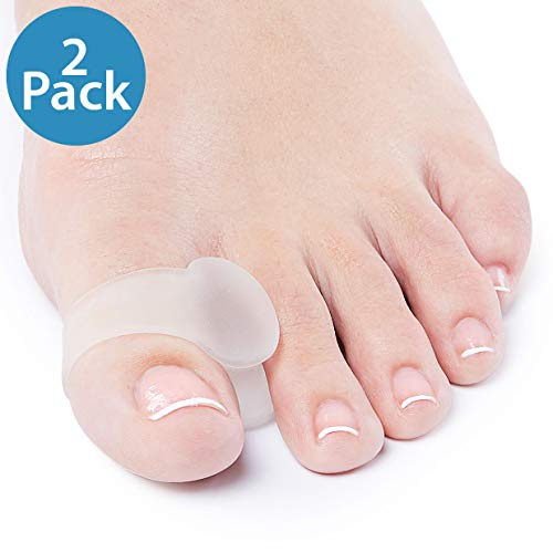 NatraCure Advanced Gel Toe Separator & Spreader/Spacer (w/Toe Loop) - Size: L/XL - (1030-M CAT 2PK) - 1 Pair - (For Pain Relief from Calluses, Blisters, Bunions, and Hammer Toes)