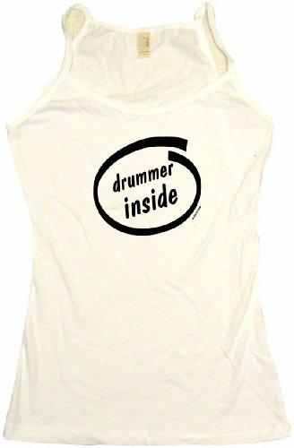 Drummer Inside Musician Logo Women's Babydoll Tee Shirt XL-T