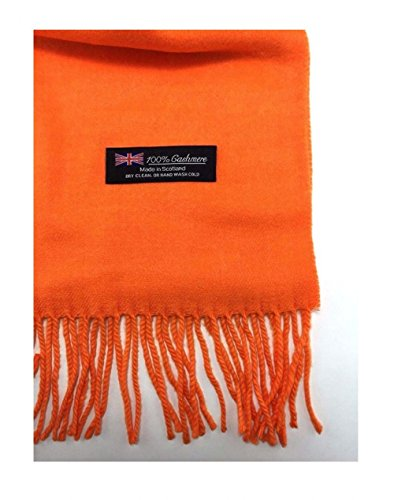 9Proud Orange Scarves Solid Scotland Wool Warm Thick Winter Scarf