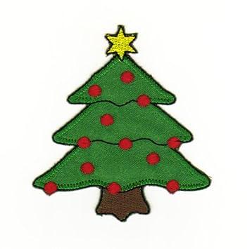 Weihnachtsbaum Weihnachten.Aufnäher Bügelbild Aufbügler Iron On Patches Applikation Weihnachten Stern Baum Weihnachtsbaum Kinder Winter