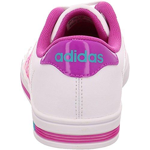 adidas Daily Team K, Zapatillas de Deporte Exterior Unisex Bebé Blanco / Rosa / Verde