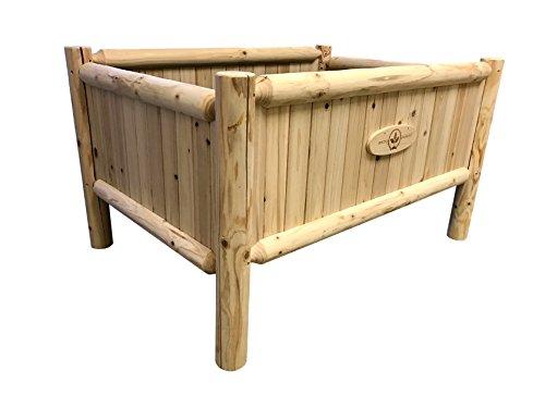 Raised Bed Home Gardening Kit: Rustic Planter Frame - Elevated Vegetable Garden Beds - Short