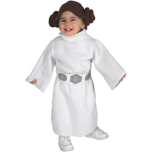 Star Wars Princess Leia Costume, White, Toddler -